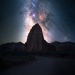 The Milky Way rising over the Temple of the Sun and Moon, Capitol Reef National Park, Utah.