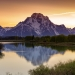 Sunset at Oxbow Bend, Grand Teton National Park.