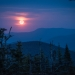 Blood moon rising over the White Mountains of New Hampshire