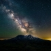 The Milky Way graces the sky over Mt. St. Helens on a clear summer night
