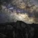Milky Way above half dome in Yosemite National Park