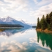Calm morning at Medicine Lake, Alberta
