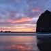 An explosion of color on the Oregon coast. Haystack Rock, Cannon Beach, OR