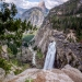 Illilouette Falls and the less seen backside of Half Dome, Yosemite