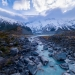 Hooker Valley Glacier, New Zealand.