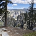 Yosemite falls in the distance looking like a painting on Memorial Day