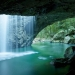 Crazy beautiful waterfall cave is crazy beautiful. Queensland, Australia