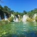 Kravice Falls in Bosnia and Herzegovina on a perfectly clear day