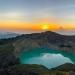 Sunrise over the caldera lakes in Kelimutu National Park, Flores, Indonesia